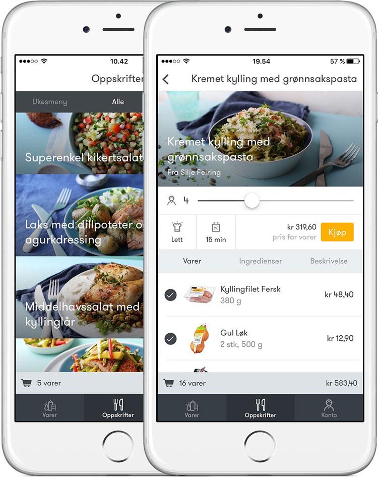 Vår brukervennlige iOS-app, en av appene som omsetter for mest i AppStore i Norge.